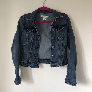 🐆 H&M L.O.G.G. Crop Denim Jacket